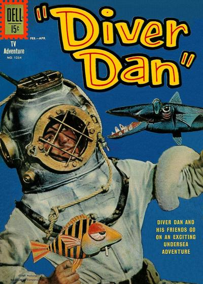 Cover for Four Color (Dell, 1942 series) #1254 - Diver Dan