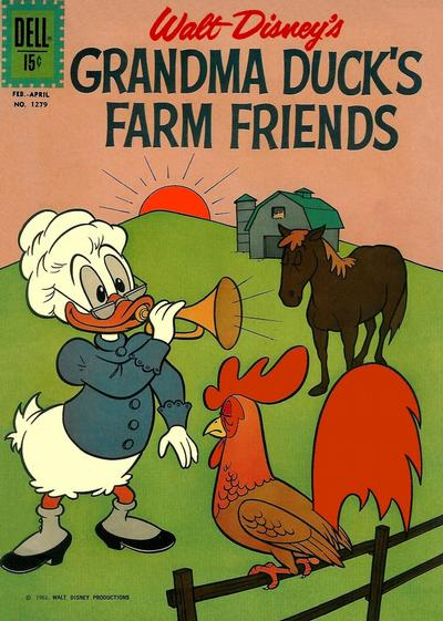 Cover for Four Color (Dell, 1942 series) #1279 - Walt Disney's Grandma Duck's Farm Friends