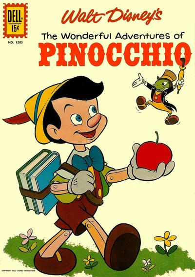 Cover for Four Color (Dell, 1942 series) #1203 - Walt Disney's The Wonderful Adventures of Pinocchio