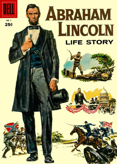 Cover for Abraham Lincoln Life Story (Dell, 1958 series) #1