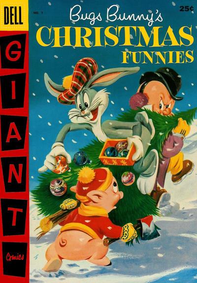 Cover for Bugs Bunny's Christmas Funnies (Dell, 1950 series) #7