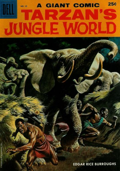 Cover for Dell Giant (Dell, 1959 series) #25 -  Tarzan's Jungle World