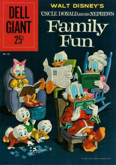 Cover for Dell Giant (Dell, 1959 series) #38 - Walt Disney's Uncle Donald and His Nephews Family Fun