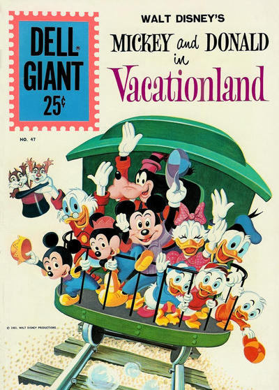 Cover for Dell Giant (Dell, 1959 series) #47 - Walt Disney's Mickey and Donald in Vacationland