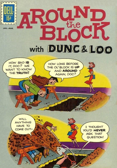 Cover for Around the Block with Dunc & Loo (Dell, 1962 series) #2