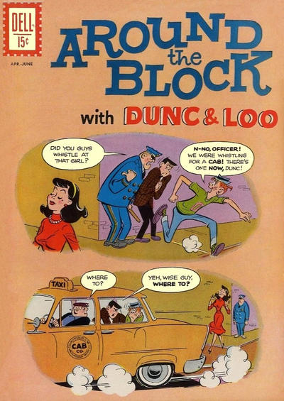 Cover for Around the Block with Dunc & Loo (Dell, 1962 series) #3