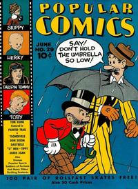 Cover Thumbnail for Popular Comics (Dell, 1936 series) #29