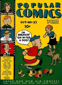 Cover Thumbnail for Popular Comics (Dell, 1936 series) #33