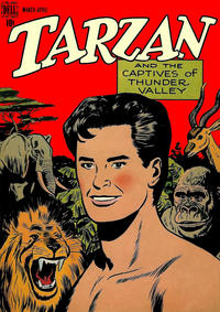 Cover for Edgar Rice Burroughs' Tarzan (Dell, 1948 series) #2
