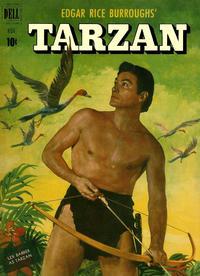 Cover for Edgar Rice Burroughs' Tarzan (Dell, 1948 series) #26