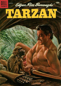 Cover for Edgar Rice Burroughs' Tarzan (Dell, 1948 series) #65