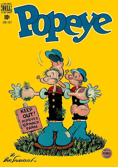 Cover for Popeye (Dell, 1948 series) #7