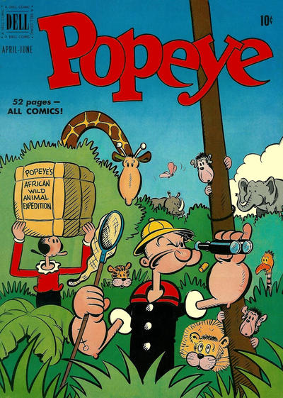 Cover for Popeye (Dell, 1948 series) #16