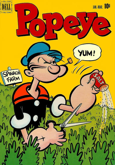 Cover for Popeye (Dell, 1948 series) #19