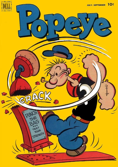 Cover for Popeye (Dell, 1948 series) #21