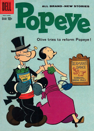 Cover for Popeye (Dell, 1948 series) #54