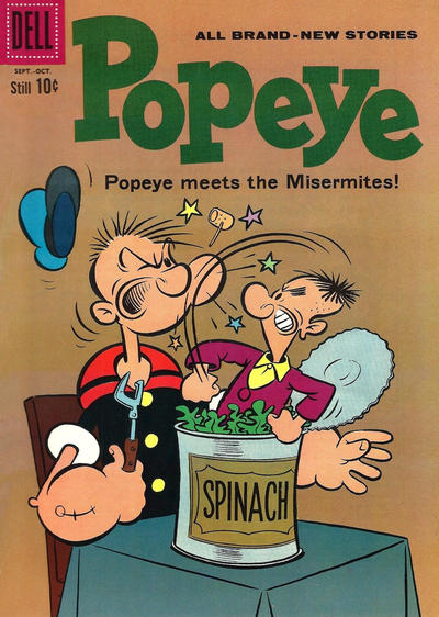 Cover for Popeye (Dell, 1948 series) #55