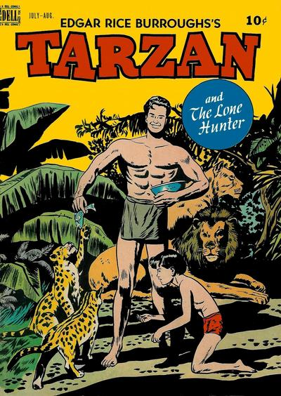 Cover for Edgar Rice Burroughs' Tarzan (Dell, 1948 series) #4