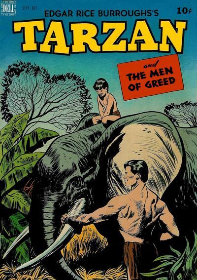Cover for Edgar Rice Burroughs' Tarzan (Dell, 1948 series) #5