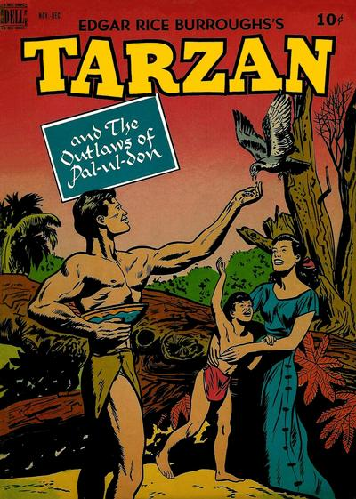 Cover for Edgar Rice Burroughs' Tarzan (Dell, 1948 series) #6