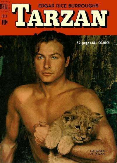 Cover for Edgar Rice Burroughs' Tarzan (Dell, 1948 series) #22
