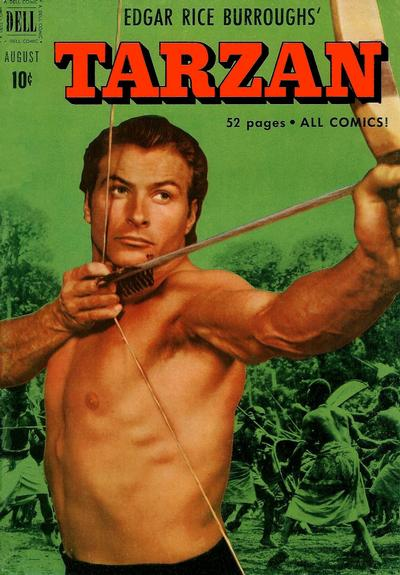 Cover for Edgar Rice Burroughs' Tarzan (Dell, 1948 series) #23