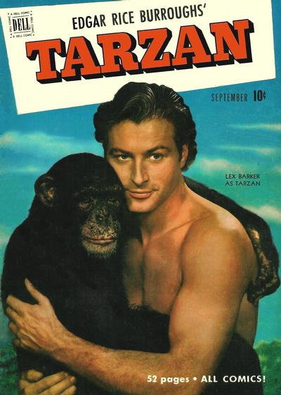 Cover for Edgar Rice Burroughs' Tarzan (Dell, 1948 series) #24
