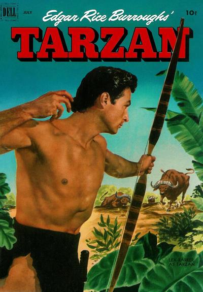 Cover for Edgar Rice Burroughs' Tarzan (Dell, 1948 series) #34