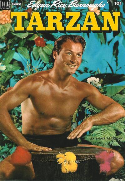 Cover for Edgar Rice Burroughs' Tarzan (Dell, 1948 series) #35