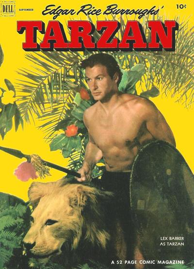 Cover for Edgar Rice Burroughs' Tarzan (Dell, 1948 series) #36