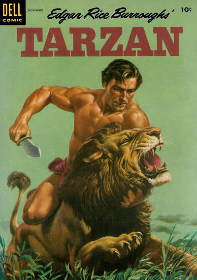 Cover for Edgar Rice Burroughs' Tarzan (Dell, 1948 series) #62