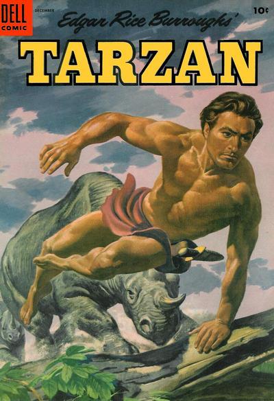 Cover for Edgar Rice Burroughs' Tarzan (Dell, 1948 series) #63