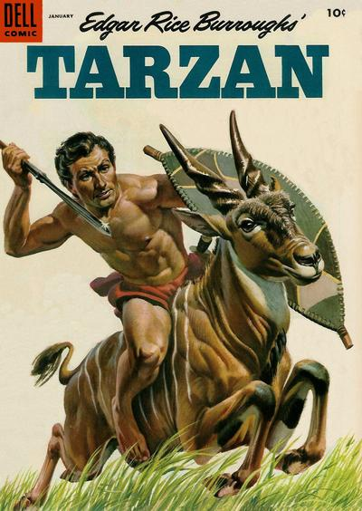 Cover for Edgar Rice Burroughs' Tarzan (Dell, 1948 series) #64