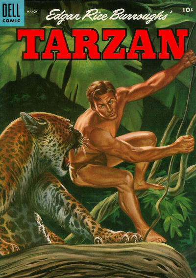 Cover for Edgar Rice Burroughs' Tarzan (Dell, 1948 series) #66