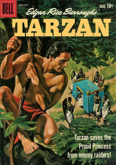 Cover for Edgar Rice Burroughs' Tarzan (Dell, 1948 series) #119