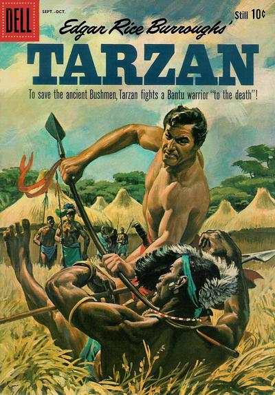 Cover for Edgar Rice Burroughs' Tarzan (Dell, 1948 series) #120
