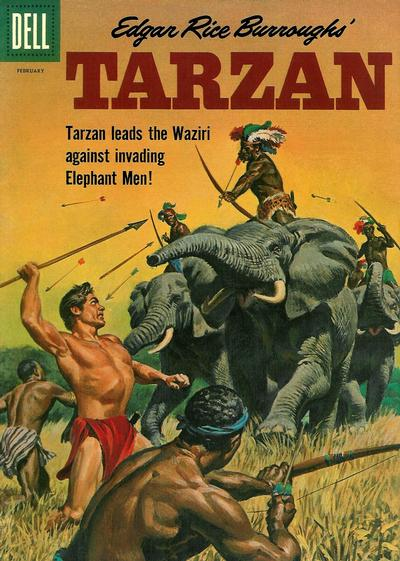 Cover for Edgar Rice Burroughs' Tarzan (Dell, 1948 series) #122