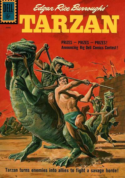 Cover for Edgar Rice Burroughs' Tarzan (Dell, 1948 series) #124