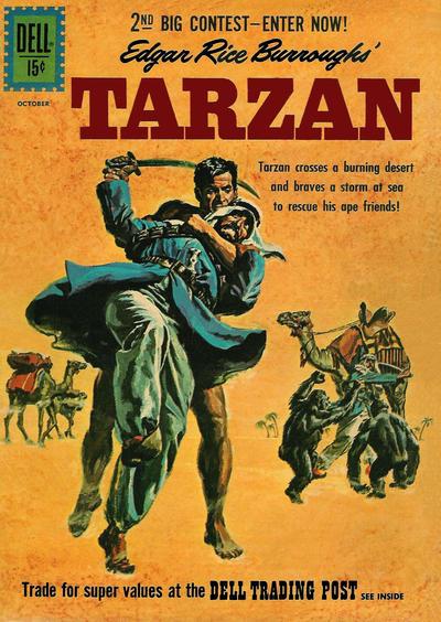 Cover for Edgar Rice Burroughs' Tarzan (Dell, 1948 series) #126