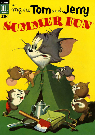 Cover for M-G-M's Tom & Jerry's Summer Fun (Dell, 1954 series) #1