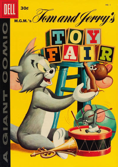 Cover for Tom & Jerry Toy Fair (Dell, 1958 series) #1 [25 cent cover price ]