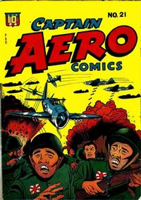Cover Thumbnail for Captain Aero Comics (Temerson / Helnit / Continental, 1941 series) #21