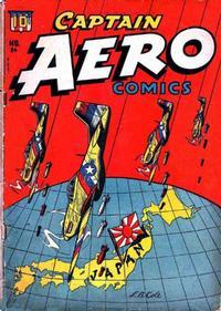 Cover Thumbnail for Captain Aero Comics (Temerson / Helnit / Continental, 1941 series) #24