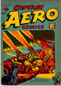 Cover for Captain Aero Comics (Temerson / Helnit / Continental, 1941 series) #25
