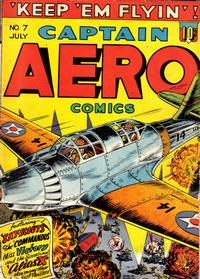 Cover Thumbnail for Captain Aero Comics (Holyoke, 1942 series) #v2#1 (7)