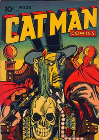 Cover Thumbnail for Cat-Man Comics (Temerson / Helnit / Continental, 1941 series) #28
