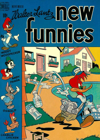Cover for Walter Lantz New Funnies (Dell, 1946 series) #153