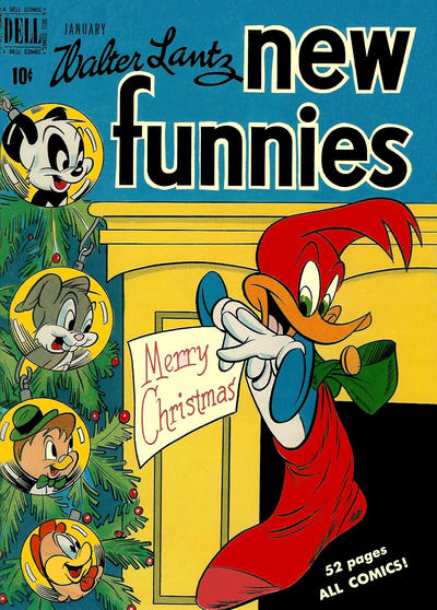 Cover for Walter Lantz New Funnies (Dell, 1946 series) #155