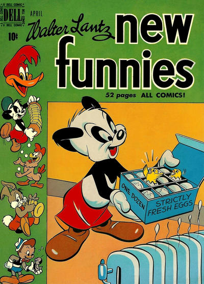 Cover for Walter Lantz New Funnies (Dell, 1946 series) #158