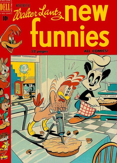 Cover for Walter Lantz New Funnies (Dell, 1946 series) #165